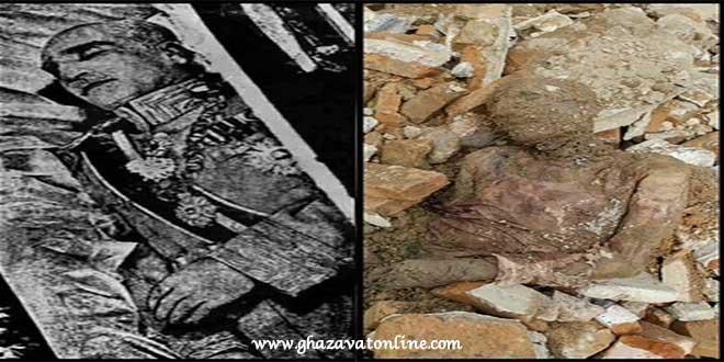جسد رضا شاه