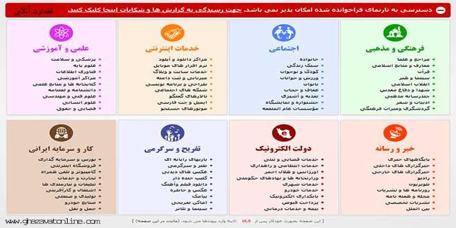 صفحه فیلیرینگ سایتی ها در ایران